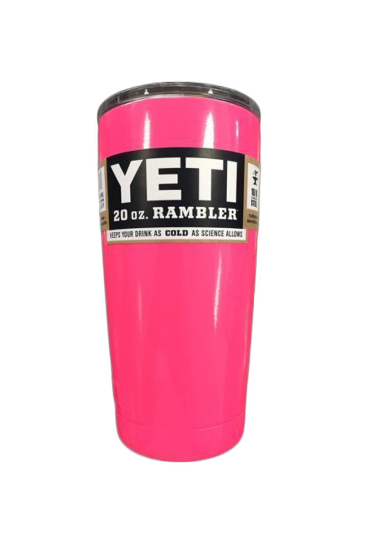 d58562616e6 YETI Rambler Tumbler 20oz. Barbie Pink Powder Coat - 904 PowderWorx