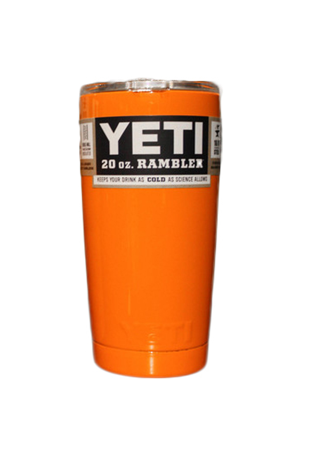 YETI Rambler Tumbler 20oz. Gator Orange Powder Coat - 904